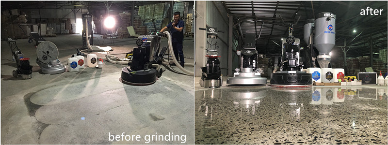 concrete floor grinding and polishing machine
